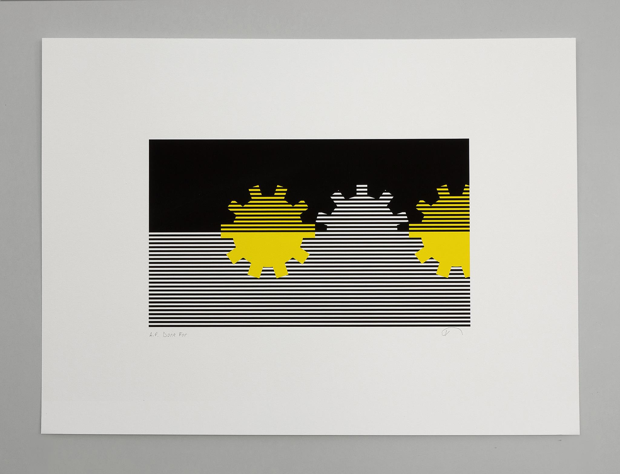 Giclée printby Karen Bleitz on the theme of The Mechanical Word. Archival inks on 300gsm Hahnemühle Photo Rag paper.Arc Editions. London 2014.